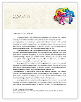 Solidarity Letterhead Template, 04594, Consulting — PoweredTemplate.com