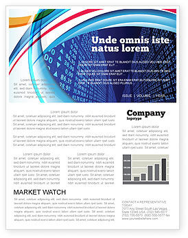 Financial/Accounting: Rate Board Newsletter Template #04596