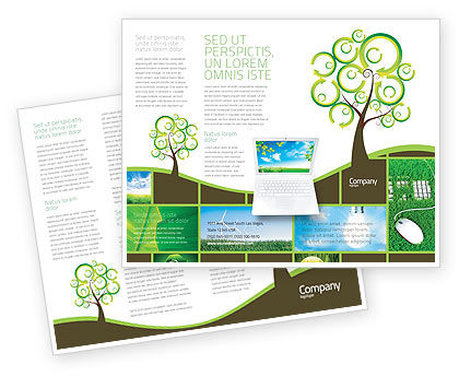 Green Solution Brochure Template, 04597, Nature & Environment — PoweredTemplate.com