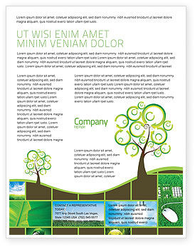 Nature & Environment: Templat Flyer Solusi Hijau #04597