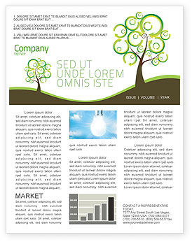 Nature & Environment: Green Solution Newsletter Template #04597