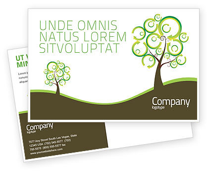 Nature & Environment: Green Solution Postcard Template #04597