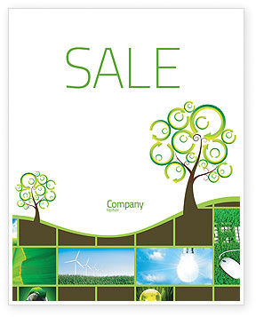 Green Solution Sale Poster Template, 04597, Nature & Environment — PoweredTemplate.com