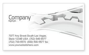 Utilities/Industrial: Process Business Card Template #04598
