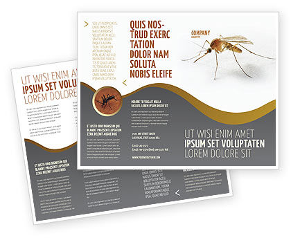 Agriculture and Animals: Mosquito Brochure Template #04599