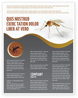 Mosquito Flyer Template, 04599, Agriculture and Animals — PoweredTemplate.com