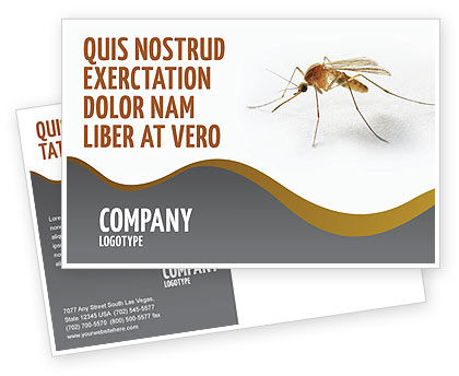 Agriculture and Animals: Mosquito Postcard Template #04599
