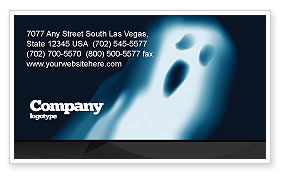 Technology, Science & Computers: Ghost Business Card Template #04600