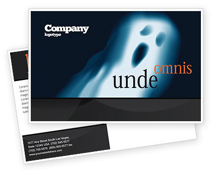 Ghost Postcard Template, 04600, Technology, Science & Computers — PoweredTemplate.com