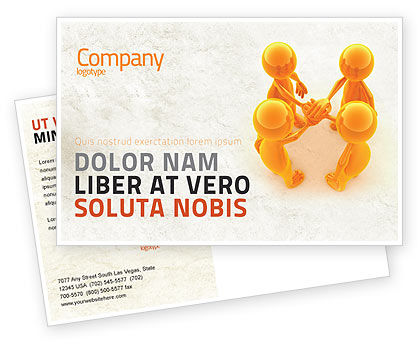 Unanimity Postcard Template, 04601, Consulting — PoweredTemplate.com