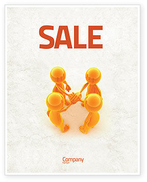 Unanimity Sale Poster Template, 04601, Consulting — PoweredTemplate.com