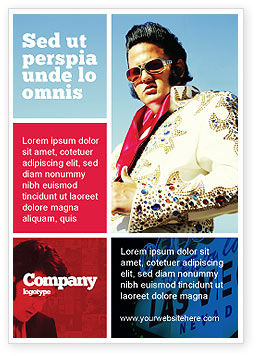 Elvis Presley Ad Template, 04602, Art & Entertainment — PoweredTemplate.com