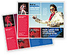 Art & Entertainment: Elvis Presley Brochure Template #04602