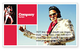 Art & Entertainment: Elvis Presley Business Card Template #04602