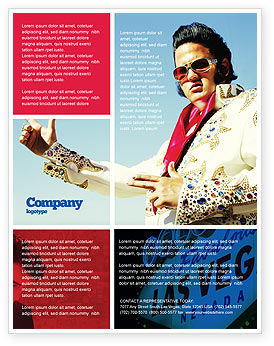 Art & Entertainment: Elvis Presley Flyer Template #04602