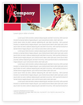 Art & Entertainment: Elvis Presley Letterhead Template #04602