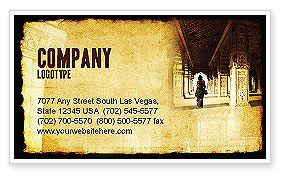 Art & Entertainment: Hindu Temple Business Card Template #04603