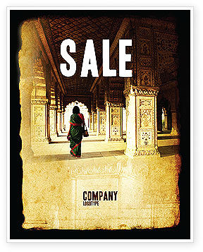 Hindu Temple Sale Poster Template, 04603, Art & Entertainment — PoweredTemplate.com