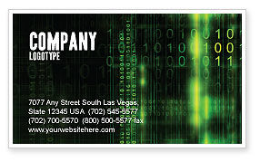 Matrix Code Business Card Template, 04604, Technology, Science & Computers — PoweredTemplate.com