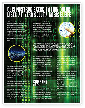 Technology, Science & Computers: Matrix-code Flyer Vorlage #04604