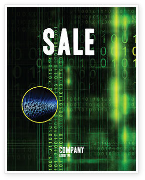 Technology, Science & Computers: Matrix Code Sale Poster Template #04604