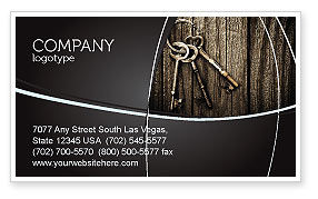 Education & Training: Keys Business Card Template #04609