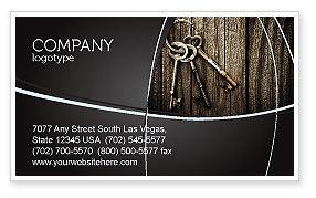 Keys Business Card Template, 04609, Education & Training — PoweredTemplate.com