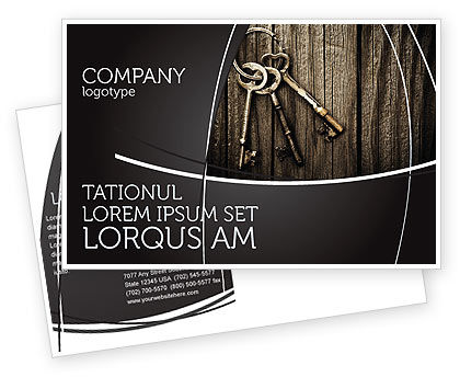 Keys Postcard Template