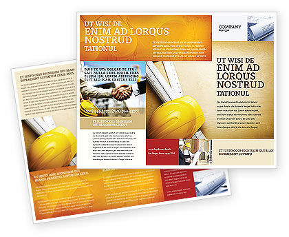 Construction: Foreman Brochure Template #04611