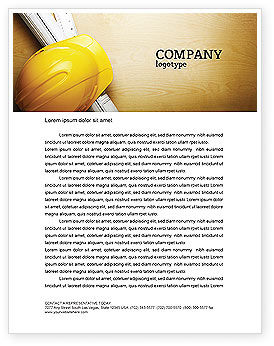Foreman Letterhead Template, 04611, Construction — PoweredTemplate.com