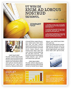 Construction: Foreman Newsletter Template #04611