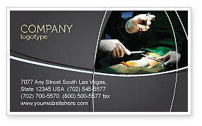 Surgical Incision Business Card Template, 04619, Medical — PoweredTemplate.com