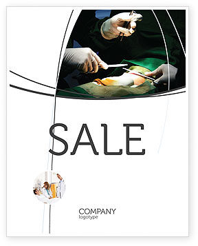 Medical: Surgical Incision Sale Poster Template #04619