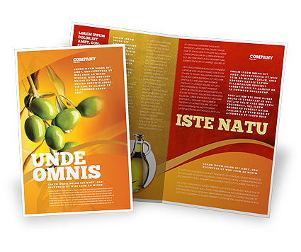 Olives Brochure Template, 04622, Agriculture and Animals — PoweredTemplate.com