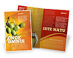 Agriculture and Animals: Olives Brochure Template #04622