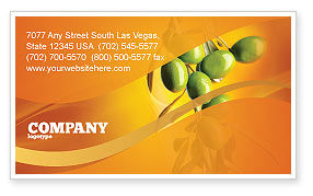 Agriculture and Animals: Olives Business Card Template #04622