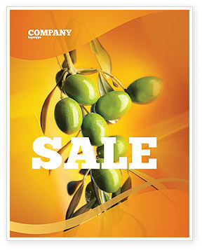 Olives Sale Poster Template, 04622, Agriculture and Animals — PoweredTemplate.com