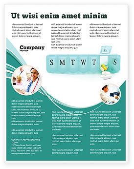Medication Dosage Flyer Template, 04625, Medical — PoweredTemplate.com