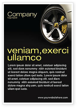 Driving Wheel Ad Template, 04629, Cars/Transportation — PoweredTemplate.com