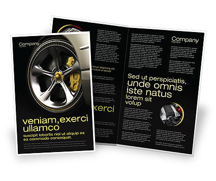 Driving Wheel Brochure Template