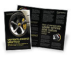 Cars/Transportation: Driving Wheel Brochure Template #04629