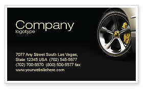 Driving Wheel Business Card Template