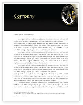 Driving Wheel Letterhead Template, 04629, Cars/Transportation — PoweredTemplate.com