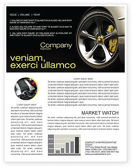 Cars/Transportation: Driving Wheel Newsletter Template #04629