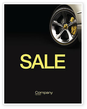 Driving Wheel Sale Poster Template