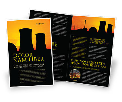 Nuclear Power Plant Brochure Template, 04632, Utilities/Industrial — PoweredTemplate.com