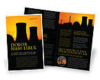 Utilities/Industrial: Nuclear Power Plant Brochure Template #04632