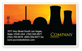 Utilities/Industrial: Nuclear Power Plant Business Card Template #04632