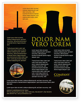 Utilities/Industrial: Nuclear Power Plant Flyer Template #04632