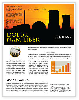 Nuclear Power Plant Newsletter Template, 04632, Utilities/Industrial — PoweredTemplate.com